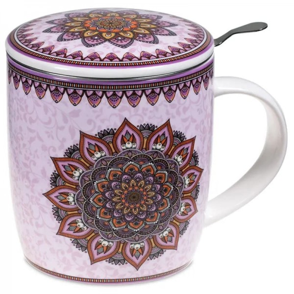 Set Teetasse Mandala lila -- 400 ml