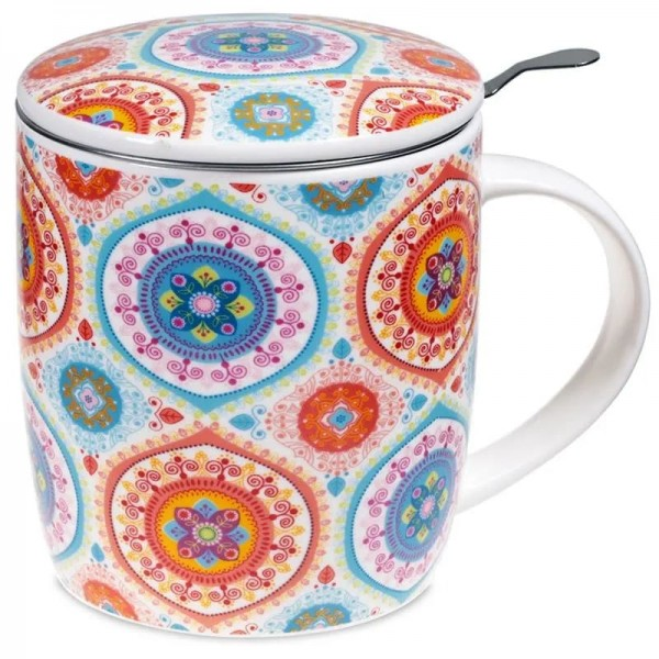 Set Teetasse Mandala blau -- 400 ml